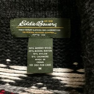 Eddie Bauer Sweaters - Eddie Bauer wool sweater with leather buttons Sz M